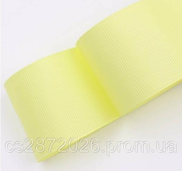 Лента репсовая светло-желтая 4 см, 23 м