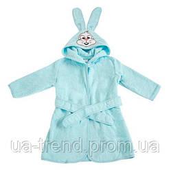 Детский махровый халат с ушками размер 24