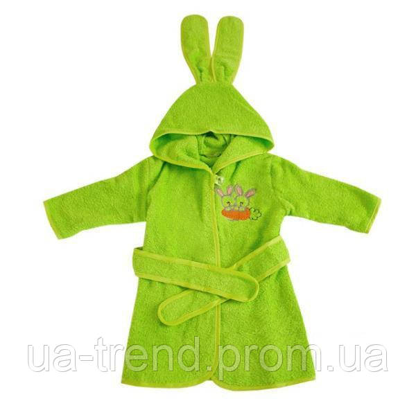 Детский махровый халат для мальчика на 80-86 см