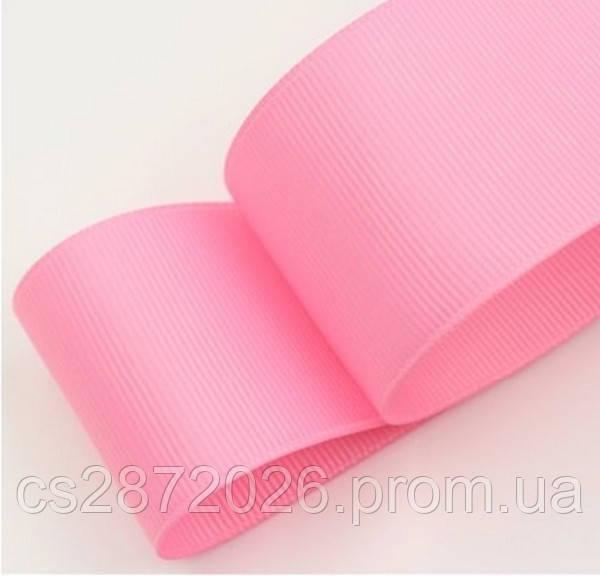 Лента репсовая розовая 4 см, 23 м