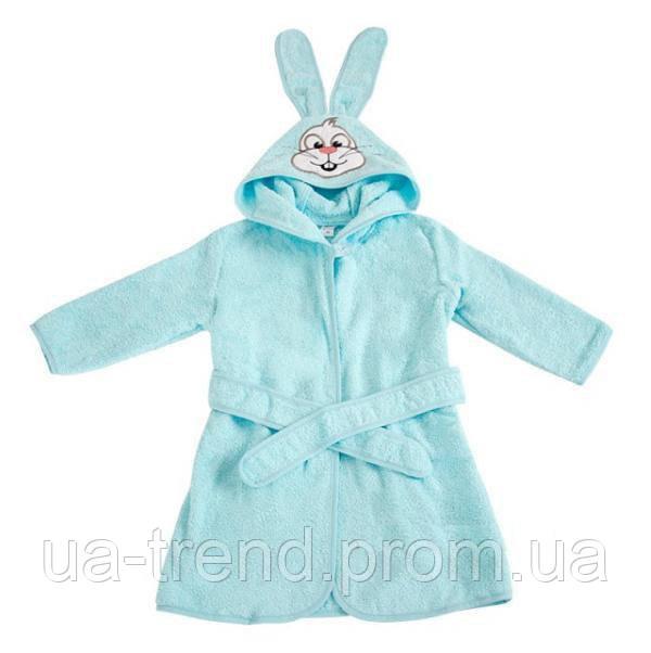 Детский махровый халат с капюшоном размер 26