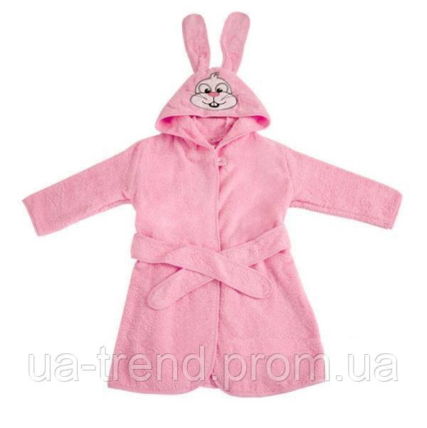 Махровый халат с капюшоном на ребенка 104-110 см