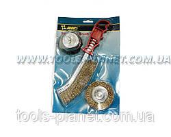 """Набор щёток из 3х штук для дрели и ручной обработки """"Judos"""""""