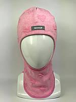 Детская весенняя шапка-шлем для девочки 1711-4
