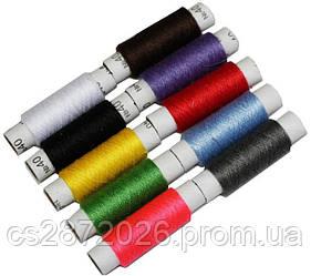 Нить швейная №40, цветная