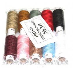 Нить швейная №30, цветная