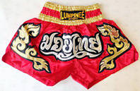 Lumpinee Шорты для тайского бокса HL-1 |красн/зол