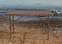 Стол пластиковый складной Rattan Design, 122 х 61 см, фото 1
