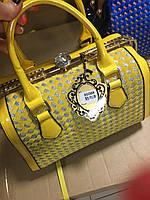 Женская сумка желтого цвета 8508