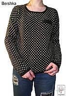 Реглан черно-белый Bershka р. М 46-48 в горошек спортивная кофта женская