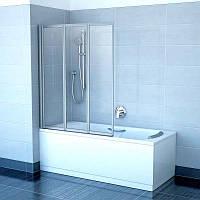 Шторка для ванны RAVAK VS 3-130 TRANSPARENT сатин