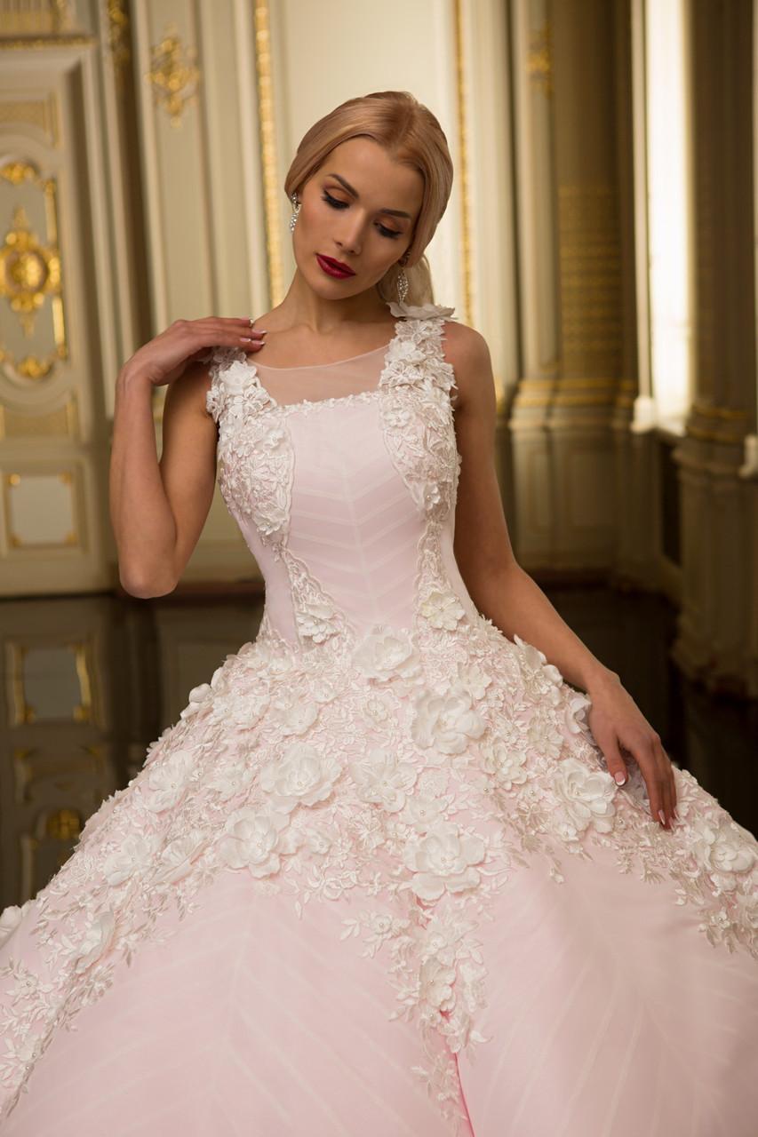 34fba408e9a Розовое Свадебное Платье в Белых Цветах — в Категории