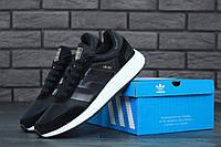 Кроссовки Adidas Iniki Black (Адидас Иники Раннер черные мужские) 41-45