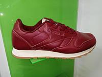 Мужские кроссовки Reebok Classic Leather бордовые, фото 1