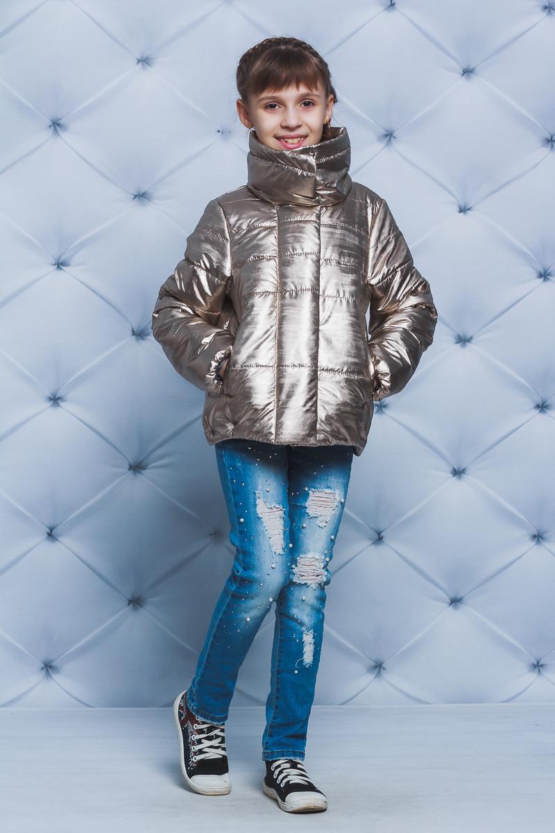 Куртка для девочки весна-осень золото