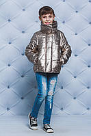 Куртка для девочки весна-осень золото, фото 1
