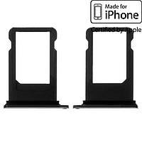 Держатель SIM-карты для Apple iPhone 8 Plus, черный, оригинал