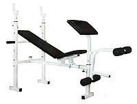 Многофункциональная скамья + скотта + ноги PLGsport K-099