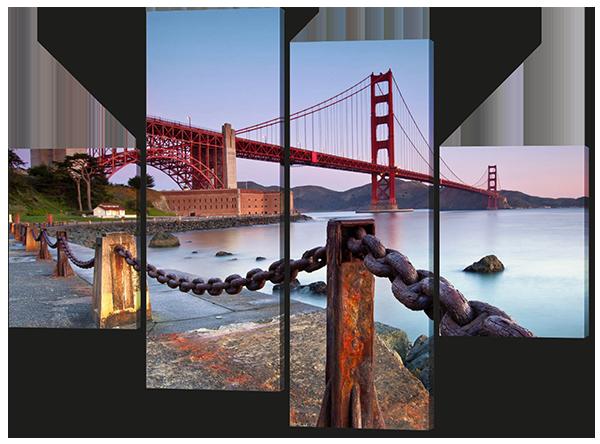 Модульная картина Мост.Золотые ворота.Сан Франциско.