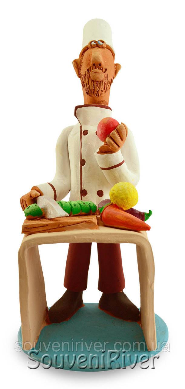 """Статуэтка """"Шеф-повар за столом"""""""
