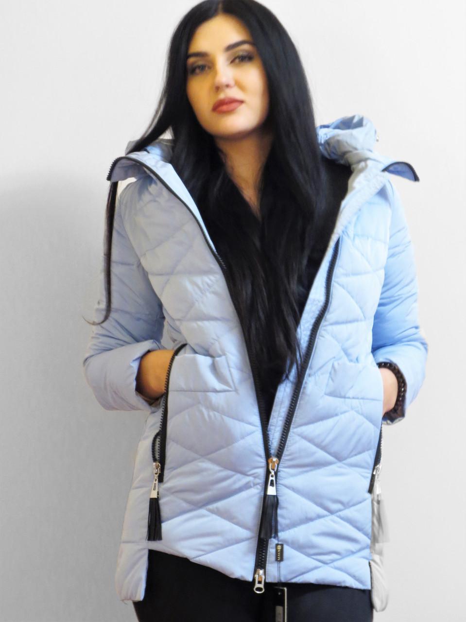 Демисезонная женская куртка НЕБЕСНОГО ЦВЕТА В наличии размер M,XL (44,48)