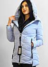 Демисезонная женская куртка НЕБЕСНОГО ЦВЕТА В наличии размер M,XL (44,48), фото 5