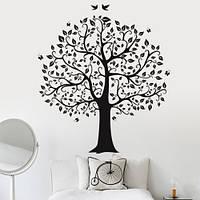 Интерьерная виниловая наклейка на обои Дерево семьи (пленка самоклеющаяся декоративный стикер)
