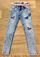 Джинсовые брюки для девочек оптом, Seagull,134-164 рр. арт. CSQ-89786
