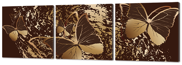 """Модульная картина """"Бабочки"""""""
