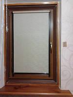 ПВХ Окно 800х1250 REHAU Euro-Design 70 с двухкамерным энергосберегающим стеклопакетом, ламинат