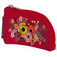 Ключница (экокожа) Цветы красная оригинальный прикольный необычный подарок на Новый год