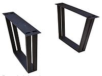 Опора для стола двойная Parallel Leg черный цвет (основание для стола) из чугуна для прямоугольных столов