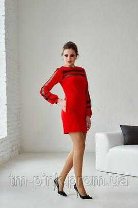 """Сукня пряма вставки сітка """"Спортивний шик"""""""