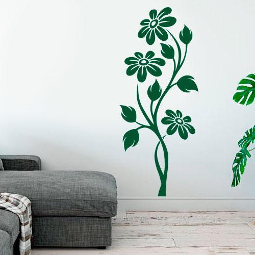 Интерьерная виниловая наклейка Цветы (наклейки цветы, растения, самоклеющаяся пленка оракал)