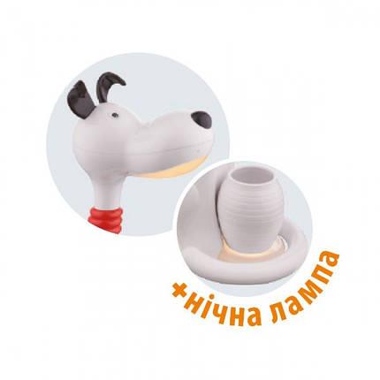 Настольная дитяча лампа з нічником Horoz SNOOPY 6W у формі Собачки Жовтого, фото 2