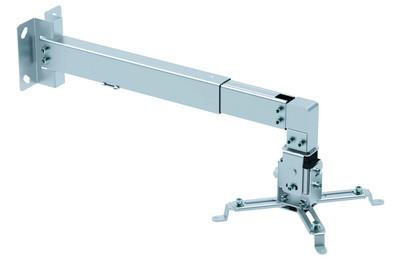 Крепление для проектора универсальное настенно-потолочное BRATECK PRB-2W SILVER