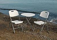 Комплект пластиковой мебели стол + 2 стула , фото 1