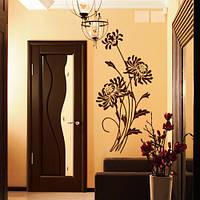 Виниловая интерьерная наклейка Хризантемы (наклейки на обои стены цветы)