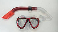 Набор для плавания маска + трубка (прозрачный силикон)