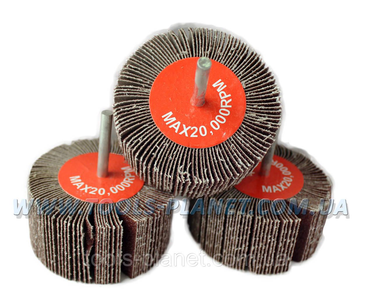 Круг шлифовальный лепестковый с оправкой (КЛО) 80*40*6 мм
