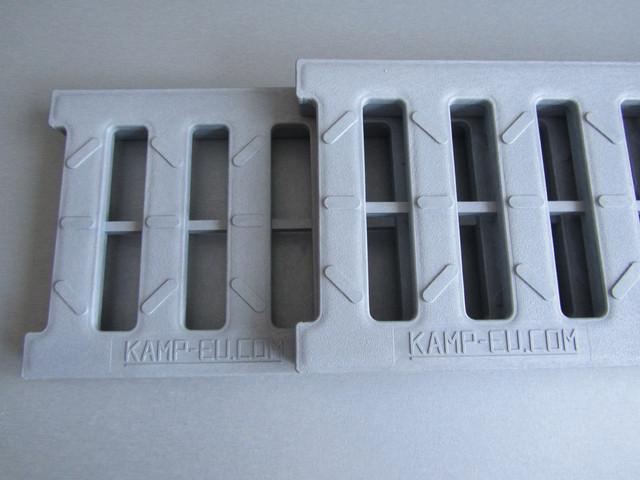 Водоотводные решетки из АБС пластика светло серый цвет