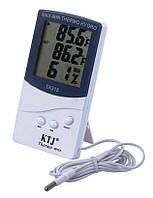 Термометр-гигрометр цифровой KTJ ТА318 с выносным датчиком.