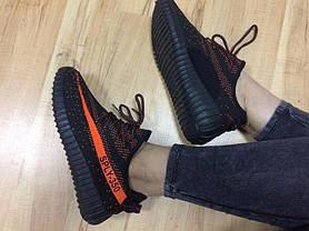 Adidas Sply 350 точная копия | кроссовки женские кеды 36р, 38 р. черные с оранжевым, фото 3