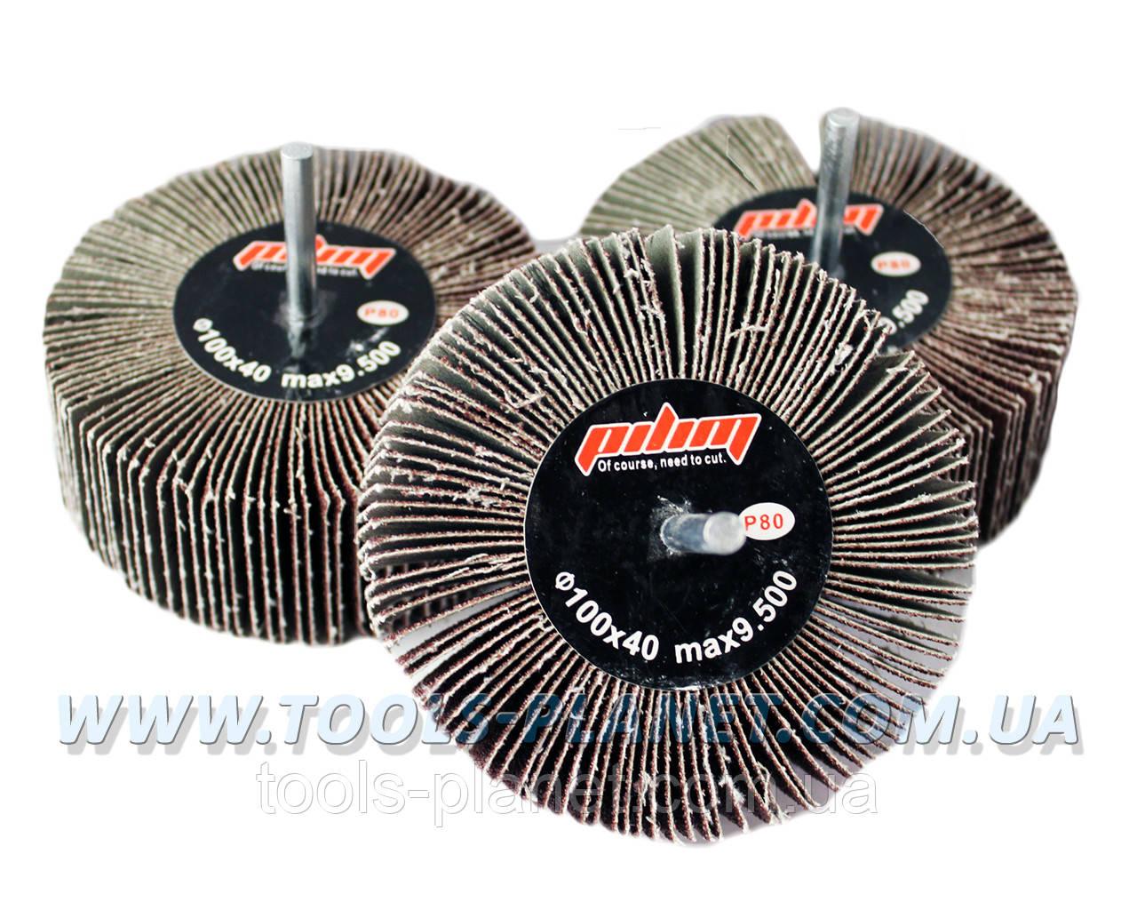 Круг шлифовальный лепестковый с оправкой (КЛО) 100*40*6 мм