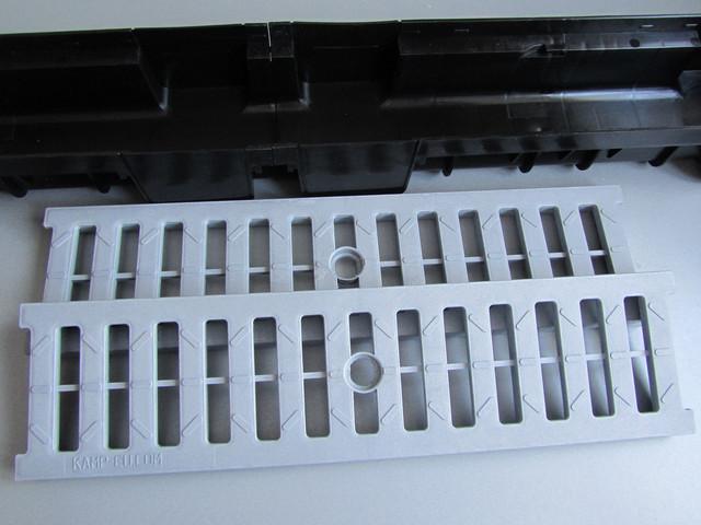 АБС серые решетки для линейного водоотвода фото