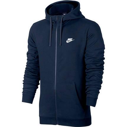 Толстовка Nike M Nsw Hoodie Fz Ft Club 804391-451 (Оригинал), фото 2