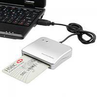 Сканер USB для чипованных смарткарт IC/ID Smart Card Reader