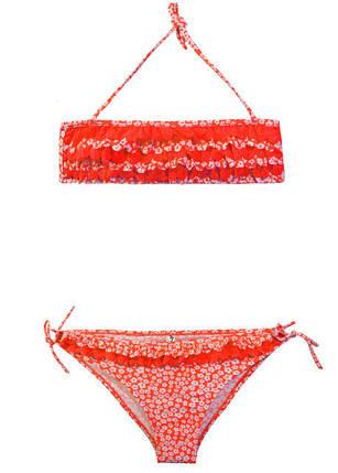 Детский раздельный купальник топом Оранжевый, фото 2