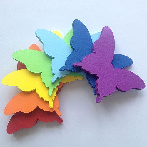 3d наклейки декоративные Набор 3д бабочек Радуга (разноцветные, картонные)