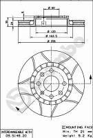 Тормозной диск на DAEWOO, ZAZ LANOS 1.6, 16V ( BREMBO)